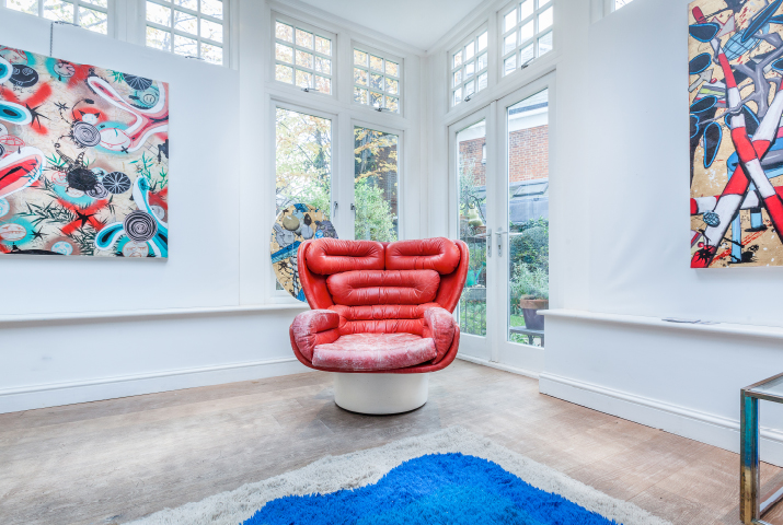 Eclectic House of the Month - Ghislaine Nassif and her Art Society