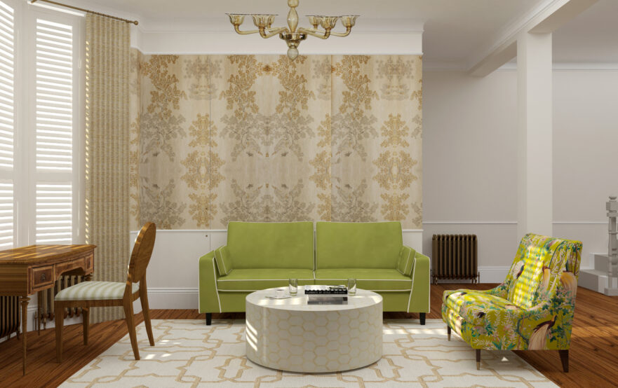 Eclectic house in Fulham, London by Krikla Interior Designers
